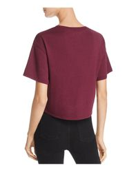 Calvin Klein - Purple Jeans Cropped Logo Tee - Lyst