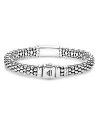 Lagos - Metallic Sterling Silver Maya Escape Chrysocolla Doublet Rope Bracelet - Lyst