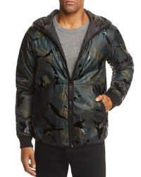 G-Star RAW Black Padded Camouflage Hooded Jacket for men