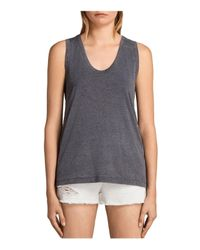 AllSaints | Gray Molly Devo Tank Top | Lyst