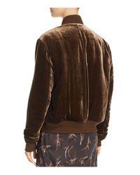 Vince - Brown Velvet Bomber Jacket - Lyst