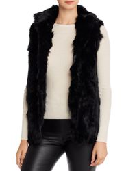 Adrienne Landau Black Rabbit Fur Vest
