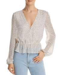 Re:named White Star - Print Blouson Blouse
