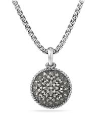 David Yurman Metallic Lotus Amulet With Diamonds