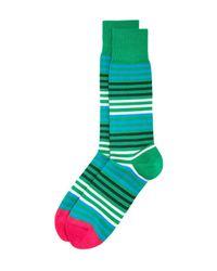 Paul Smith | Green Sanny Stripe Socks for Men | Lyst