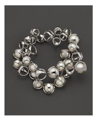 "Di Modolo - Metallic Freshwater Pearls And Diamonds ""icon"" Bracelet - Lyst"