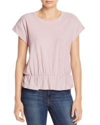 Nation Ltd Pink Dita Peplum Tee