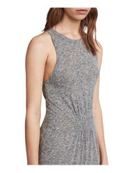 AllSaints Gray Bello Tiered Maxi Dress