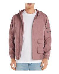 Zanerobe - Pink Boxy Hooded Jacket for Men - Lyst
