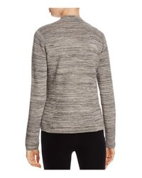 Eileen Fisher - Gray Notched-lapel Cardigan - Lyst