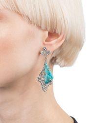 Alexis Bittar - Blue Roxbury Pavé Drop Earrings - Lyst