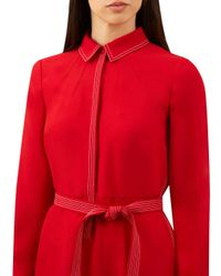 Hobbs - Red Nancy Shirt Dress - Lyst