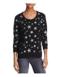 Chaser Black Star Fleece Sparkle Sweatshirt