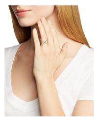 BaubleBar Metallic Crystal Mason Ring
