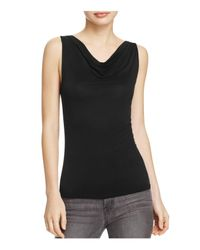 Project Social T | Black Flawless Cowl Neck Tank | Lyst