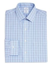 Brooks Brothers - Blue Double Check Classic Fit Dress Shirt for Men - Lyst