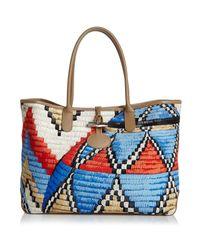 Longchamp - Multicolor Roseau Paniers D'art Tote - Lyst
