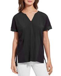 Lyssé Black Asbury High/low Shirt