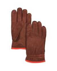 Hestra - Brown Tived Leather Gloves for Men - Lyst