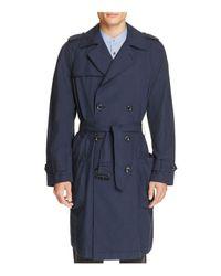 Vince Blue Lightweight Trench Coat for men