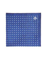 Canali | Blue Mini Dot Print Pocket Square for Men | Lyst