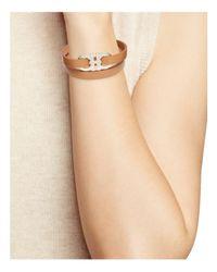 Ferragamo - Brown Double Gancini Triple Wrap Oro Bracelet - Lyst