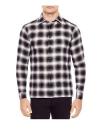Sandro - Black Grizzly Slim Fit Button-down Shirt for Men - Lyst