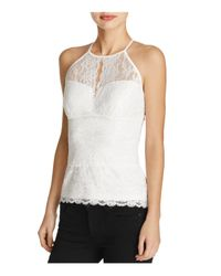 Guess | White Jessica Lace Halter Top | Lyst