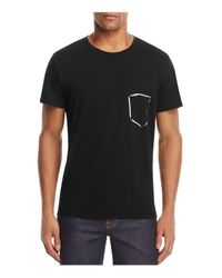 7 For All Mankind   Black Painted Pocket Graphic Tee for Men   Lyst