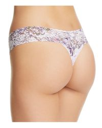 Hanky Panky Multicolor Violet Spray Low-rise Thong