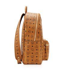 MCM | Brown Visetos Large Stark Backpack for Men | Lyst