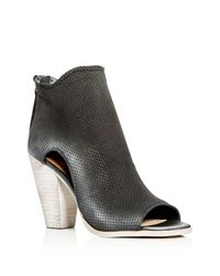 Dolce Vita Multicolor Harem Perforated Open Toe High Heel Booties