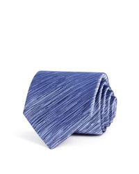 Lanvin | Purple Textured Tonal Stripes Classic Tie for Men | Lyst