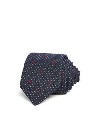 Paul Smith | Blue Pindot Hearts Skinny Tie for Men | Lyst