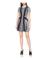 BCBGMAXAZRIA | Black Aleah Abstract-print Dress | Lyst