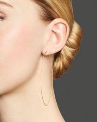 Lana Jewelry Metallic 14k Yellow Gold Large Straight Magic Hoop Earrings
