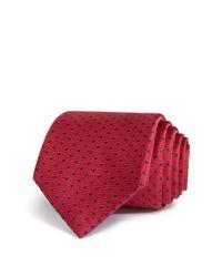 W.r.k. | Red Stitch Dot Classic Tie for Men | Lyst
