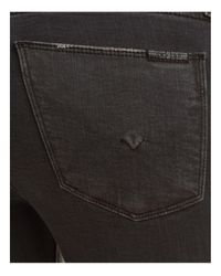 Hudson Jeans Gray Nico Raw Hem Ankle Jeans In Blackened Charcoal