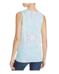 Chaser - Blue Vintage Jersey Peace Muscle Tank - Lyst