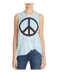 Chaser | Blue Vintage Jersey Peace Muscle Tank | Lyst