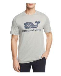 Vineyard Vines Gray Basketball Whale Performance Tee for men