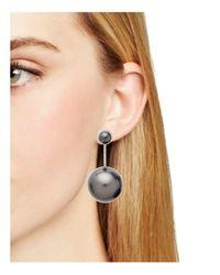 Ferragamo   Black Faux Pearl Drop Earrings   Lyst