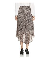 Maje Multicolor Janette Printed High/low Skirt