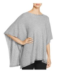 Eileen Fisher | Metallic Boat Neck Poncho | Lyst
