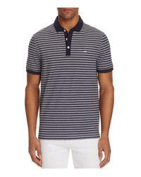 Michael Kors   Blue Birdseye Stripe Regular Fit Polo Shirt for Men   Lyst