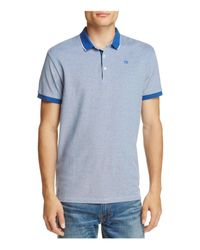 Scotch & Soda | Blue Tipped Collar Slim Fit Polo Shirt for Men | Lyst