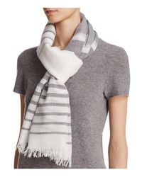 Fraas | Gray Ministripe Scarf | Lyst