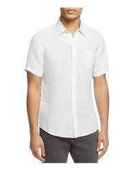 Zachary Prell White Kaplan Linen Regular Fit Button-down Shirt for men