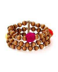 BaubleBar | Brown Grenada Beaded Stretch Bracelet | Lyst