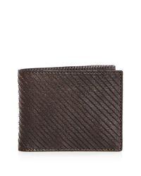 John Varvatos   Brown Leather Bifold Wallet for Men   Lyst